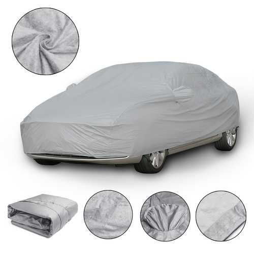 XXL 5.3X2X1.5m Universal Full Car Cover Cotton Waterproof Breathable UV Protection Outdoor