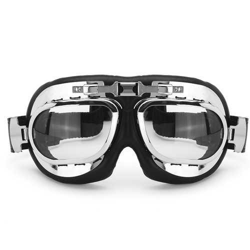 Motorcycle Goggles Vintage Motocross Classic  Glasses Retro Pilot Cruiser Steampunk ATV Bike