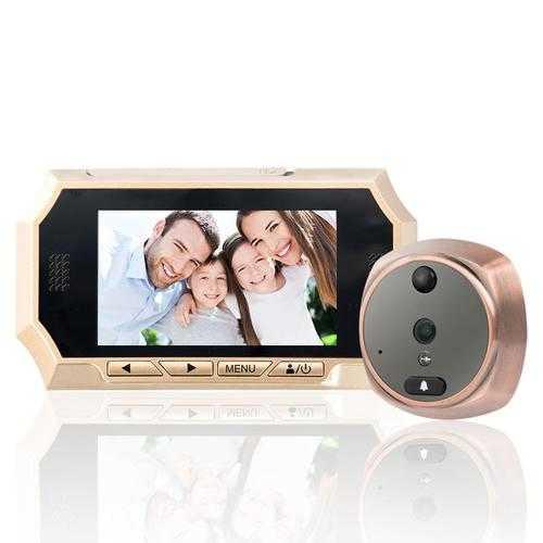 4.3 inch TFT LCD Screen Digital Peephole Door Viewer Camera PIR Motion Detection Doorbell 160 Degree