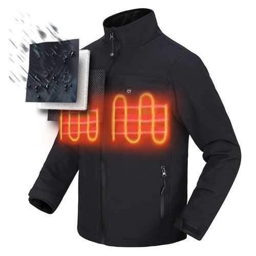 Outdoor Mens Heated Battery Jacket Cordless Heat Coat Motorcycle Winterwear