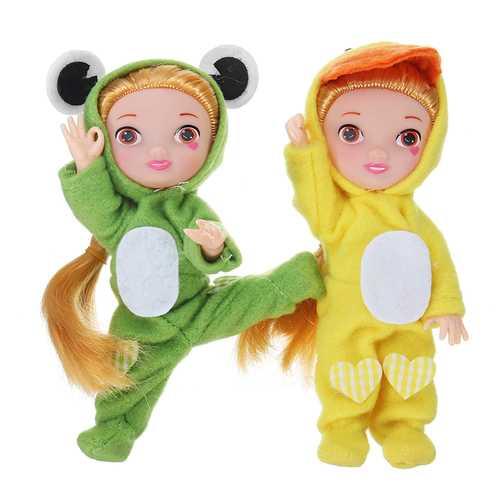 17CM Fashion Cartoon Action figure Gesture Dolls Animal Rabbit Baby Doll Toys For Children