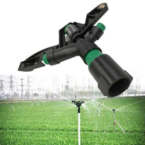 "Garden Irrigation Plastic Sprinkler 1"" DN25 Connector Rotate Rocker Arm Water Sprinklers Internal Thread Spray Nozzle"