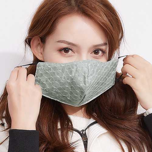 Womens Lace Dustproof Anti-Fog Face Masks