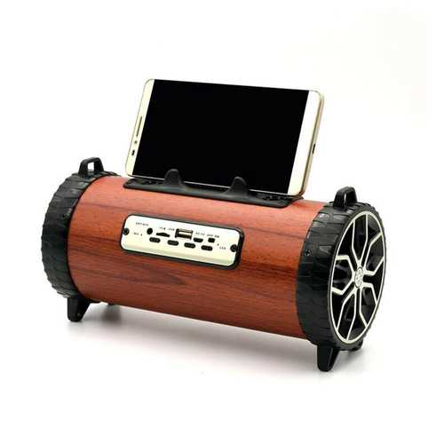 2 in 1 Outdoor Desktop Phone Holder FM Radio Wireless TF Card bluetooth Speaker with Mic for Phone