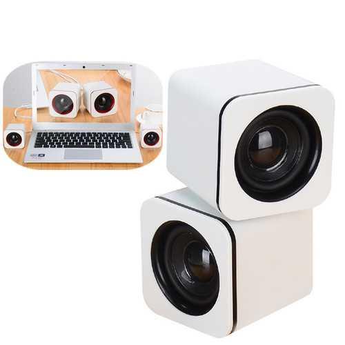 Universal Mini Portable Noise-cancelling Desktop 3.5mm Wired Speaker Loudspeaker for Phone Tablet