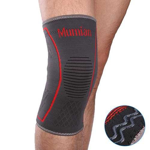 Mumian A09 Silicone Slip-Resistant Sports Knee Sleeve Support Brace Knee Guard Protector Pad- 1PC