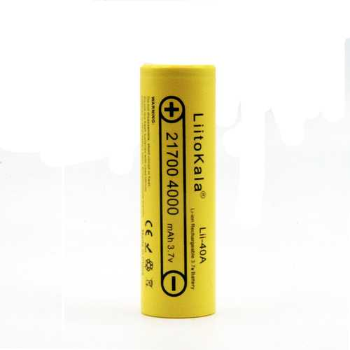 1PCS LiitoKala Lii-40A 21700 Battery 4000mah 3.7V Unprotected Flat Top Li-Ni Rechargeable Battery