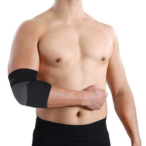 Mumian A21 Classic Black Sports Elbow Sleeve Brace - 1PC