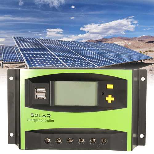 40A 12V/24V Auto Solar Energy Charge Controller LCD Display Home Improvement