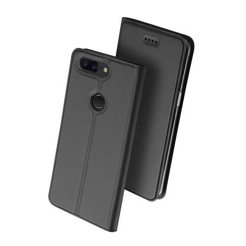 Dux Ducis Flip Magnetic Card Slot With Stand Full Body PU Leather Protective Case For OnePLus 5T