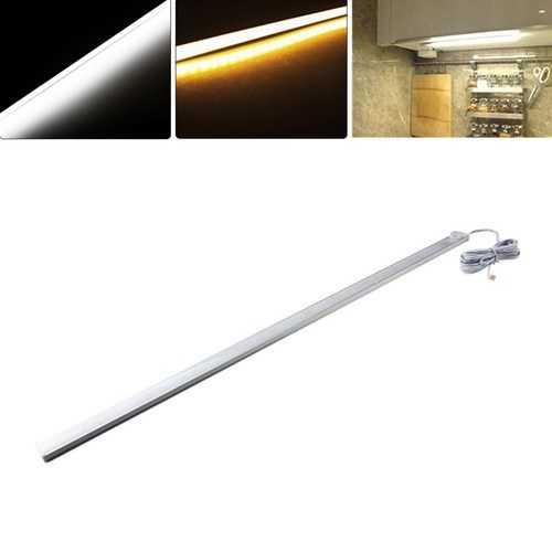 50CM Body PIR Motion Sensor LED Tube Cabinet Rigid Light for Kitchen Closet Wardrobe DC12V