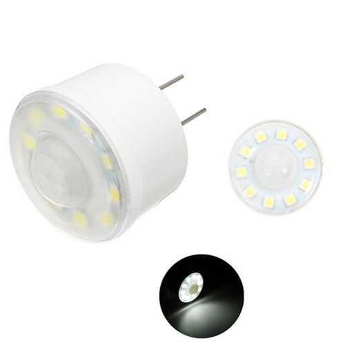 Plug-In 1.8W SMD5050 Pure White PIR Infrared Sensor Light Control LED Light Bulb AC220V