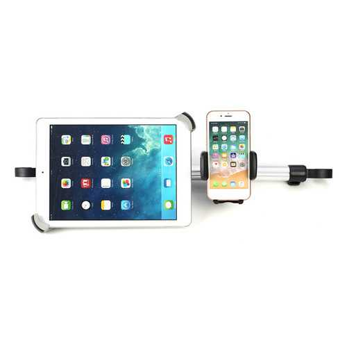 Universal Aluminum Alloy Car Headrest Holder For Phones And 9''-14'' Tablets