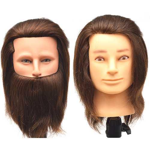100% Human Hair Men Training Head