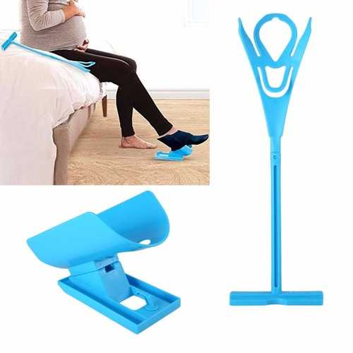 Easy On Off Sock Aid Kit Sock Helper No Bending Stretching for Pregnancy and Injuries Living Tool