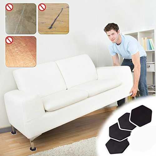 4Pcs Furniture Moving Sliders Mover Pads Moving Furniture Gliders Hardwood Floor Protectors Carpet Flooring Coaster Furniture Protector
