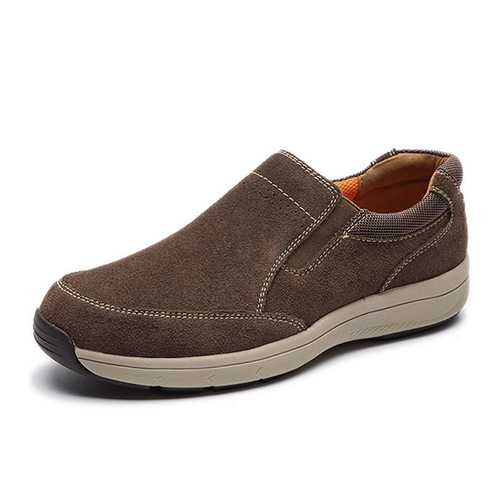 Men Comfy Slip On Suede Leather Sneakers