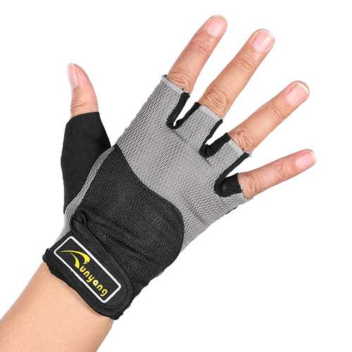 Mumian F03 Gym Cycling Fitness Half Finger Sports Gloves - 1 Pair