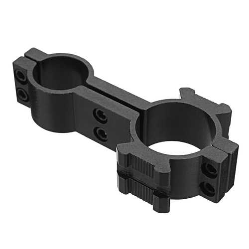 Tactical 18mm & 25mm Dual Ring Barrel Mount Scope Laser Flashlight Holder 20mm Picatinny Side Rail