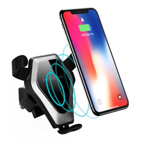 Bakeey Qi Wireless Car Suckers Cup Air Vent Mount Desktop Holder Fast Charger for iPhone X S8 Note 8