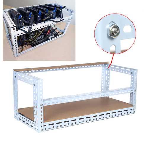 DIY Miner Mining Frame Case Mining Rig Frame Case for 12 GPU 140cm*35cm*35cm