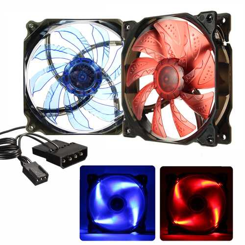 120mm 3Pin 4Pin 19dB Silent Computer Cooling Fans Cooler 12V