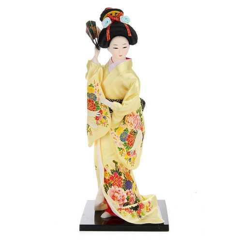30cm Oriental Japanese Brocade Kimono Kabuki Doll Geisha Action Figure Figurine Statue