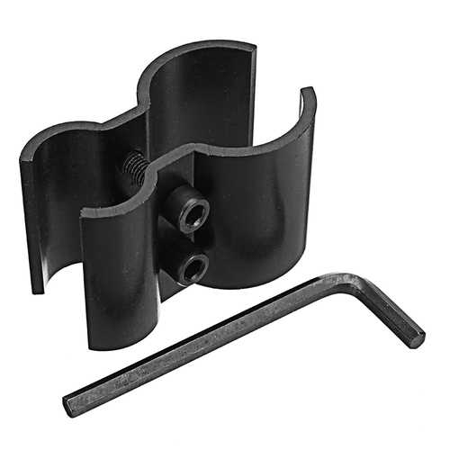 Tactical Dual Barrel Ring Barrel Mount Clamp Holder for Flashlight Torch Scope Laser Sight