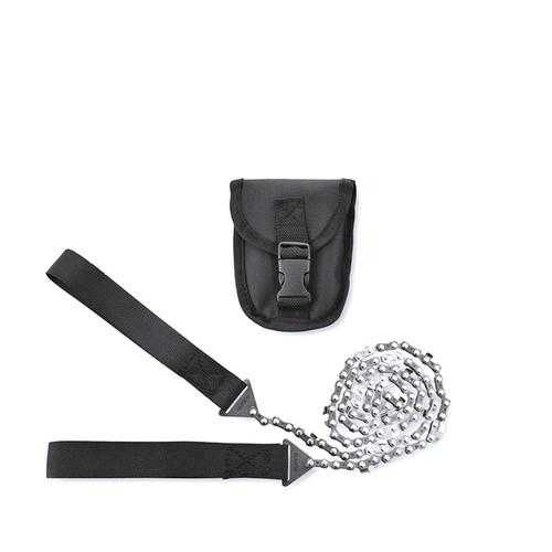 Outdoor Hiking Manual Hand 11 Teeth Steel Rope Chain Saw Portable Practical Emergency Survival Gear