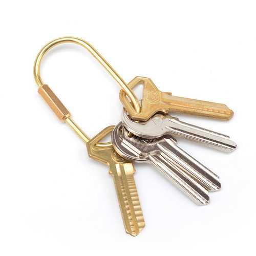 Outdoor Hiking HandmadeBrass Equitment Golden Key Pendant