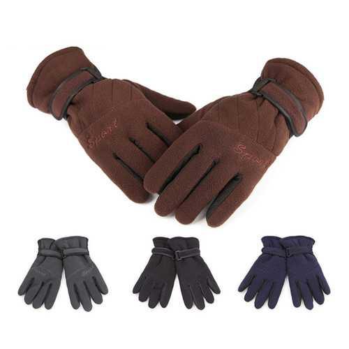 Aotu Outdoor Hiking Gloves Three Layer Thickening Windproof Soft Winter Warm Unisex Wrist Mitten