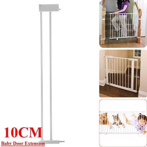 10cm Extension Safety Gate Baby Door Child Toddler Pet Walk Door with Lock Pet Handrail Protector
