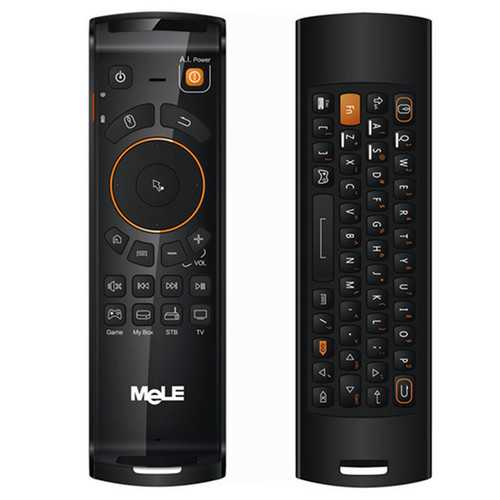 Mele F10 Deluxe Air Mouse Wireless Keyboard Remote Control With IR Learning Function For Android TV