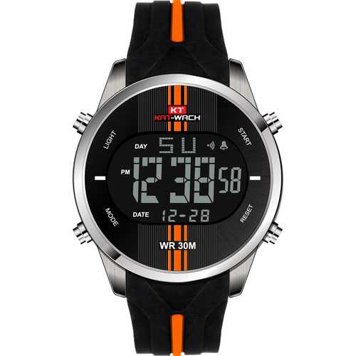 KAT-WACH KT716 Fashion Silicone Waterproof Digital Watch