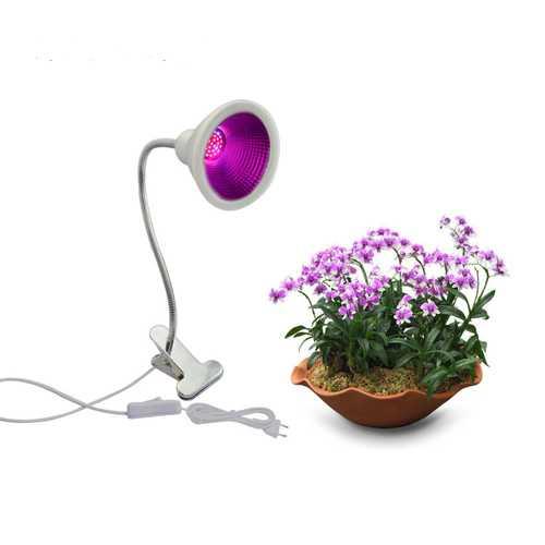 12W Garden Greenhouse Full Spectrum LED Grow Light Single-head Clamp Plants Growth Lamp Flexible Gooseneck Desk Light