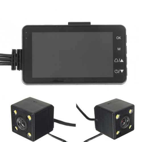 3inch HD 720P DVR Camcorder Dual Cam Action Camera Motorcycle Video Recorder