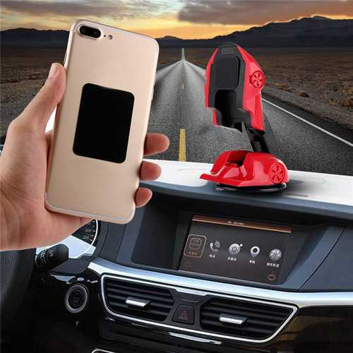 360 Degree Rotation Foldable Car Sucker Dashboard Holder Magnetic Phone Stand for iPhone Samsung