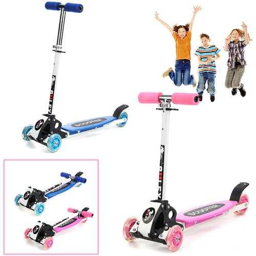 3 Wheels 15km/h Foldable Aluminum Alloy PU Wheel Anti-Skidding Kick Scooter For Kids