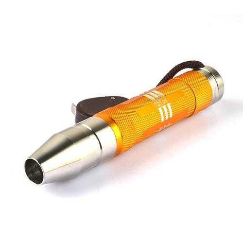 Smiling Shark SS-A102 XPE LED Single Mode Stainless Steel Focusing Jade Mini UV Flashlight+Keychain