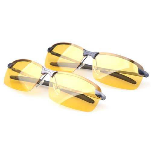 Sport Cycling Driving Glasses Anti-Glare Sunglasses Night Vision Polarized Glasses Black Grey