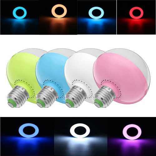 E27 12W RGB SMD5730 Buletooth Music Play LED Smart Light Bulb With 24Keys Remote Control AC85-265V