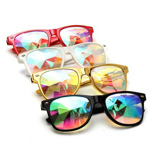 Kaleidoscope Steampunk Rave Glasses Diffraction Rainbow Crystal Glasses