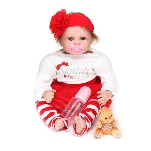 22inches Handmade Reborn Newborn Dolls Gift 22inch Lifelike Soft Vinyl Silicone Baby Doll