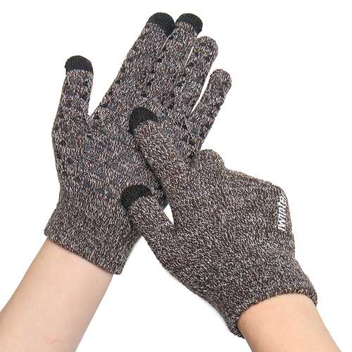 Winter Warm Fleece Lined Touchscreen Anti-skid Thermal Knitted Gloves