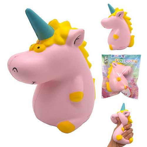 Areedy Squishy Baby Unicorn Hippo 14cm*10cm*8cm Licensed Super Slow Rising Cute Pink Scented Original Package