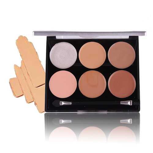 6 Colors Concealer Palette Facial Corrective Makeup Contour