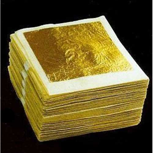 10Pcs Sheets Gold Foil 24K Gold Leaf Foil Sheets 4.33x4.33cm
