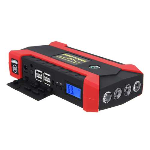 89800mAh 12V 4 USB Car Jump Starter Pack Booster Charger Battery Power Bank Kit