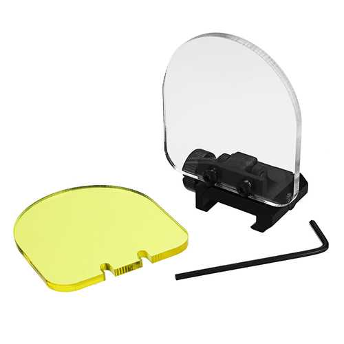20mm Tactical Thick Acrylic Optic Lens Sight Protector Shield Airsoft Paintball