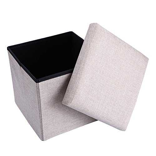 Folding Organizer Storage Bench Footrest Stool Coffee Table Cube Quick and Easy Assembly